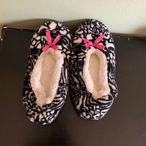 Cozy Black & White Slippers